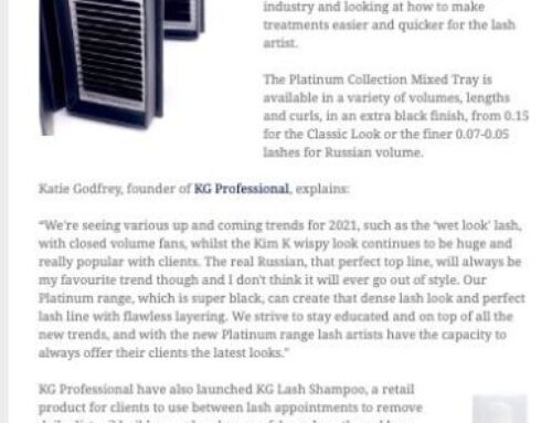 KG Professionals lashes and lash shampoo featured in ABT